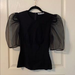 Zara puff sleeve top